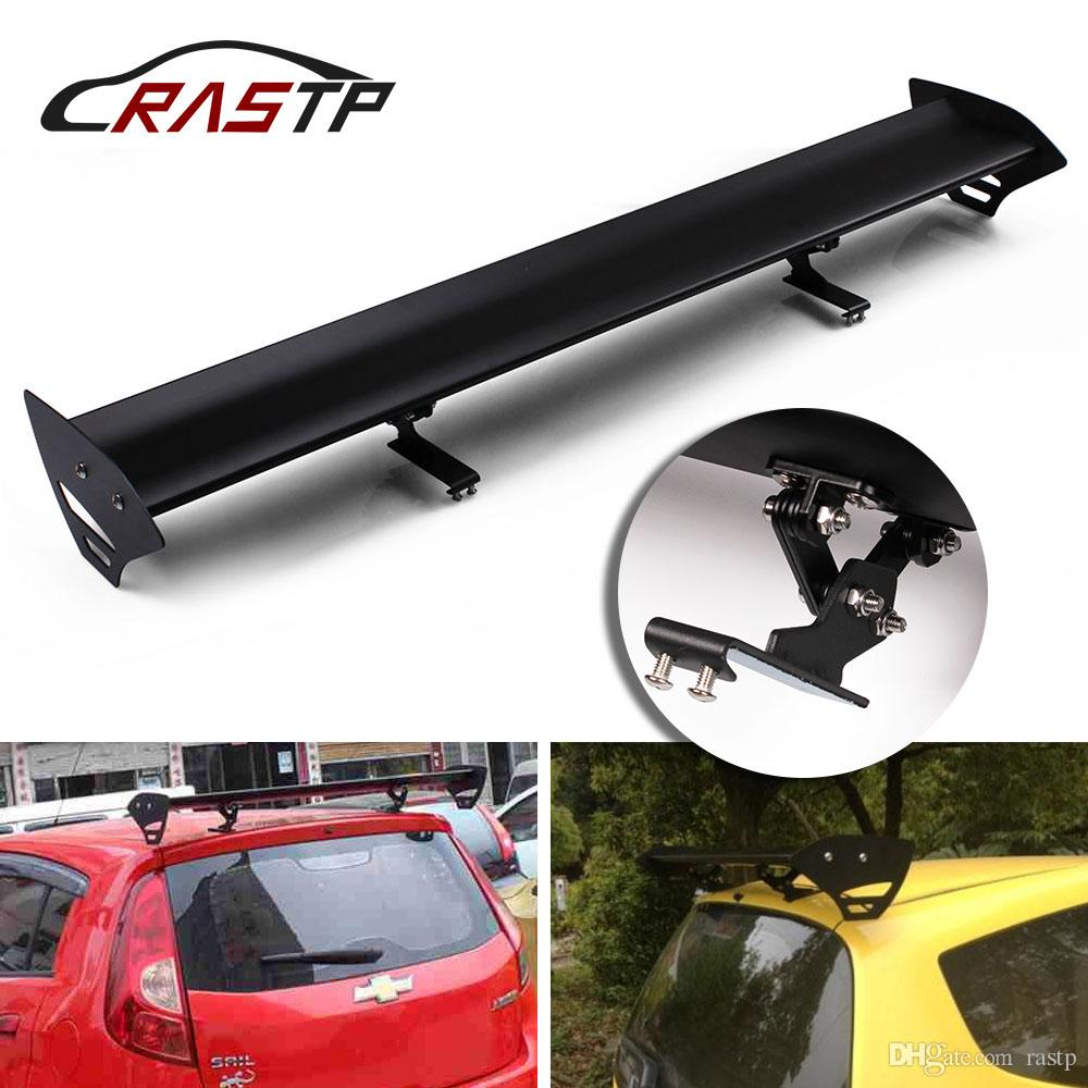 RASTP-Car Racing Spoiler Universal for Hatchback Auto 110cm Adjustable GT Aluminum Rear Trunk Wing Spoilers RS-LTB137