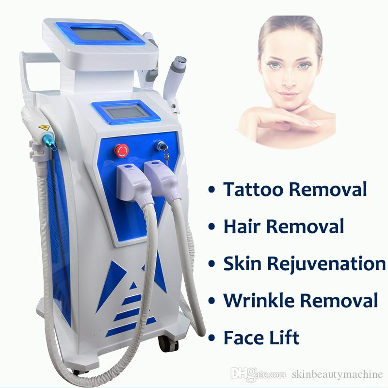 Elight treatment IPL hair removal laser machine IPL OPT SHR Elight RF Nd yag laser tattoo removal laser acne skin equipment