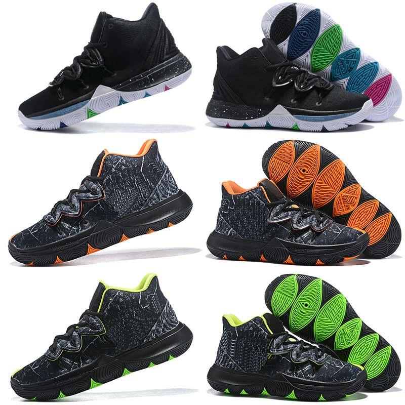 2019 Kyrie Taco Black Magic Sky Star Herren Basketball Schuhe Chaussures 5s 5 Männer Regenbogen Schwarz Weiß Sport Turnschuhe Größe US 7 12