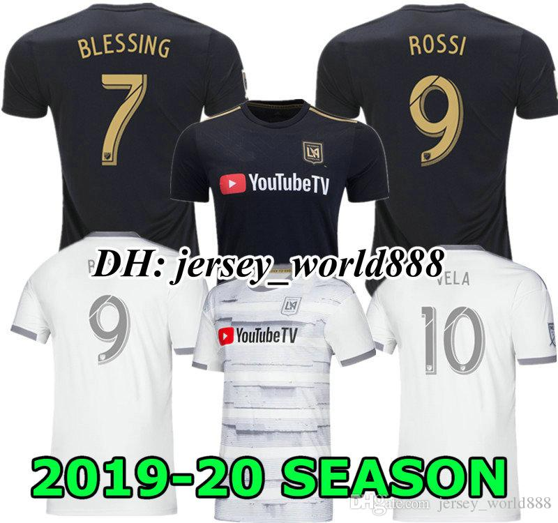 0dfbe3963 2019 PLAYER VERSION VELA 19 20 Los Angeles Fc Soccer Jersey Black HOME  BLESSING ROSSI 2019 2020 LAFC TOP Carlos Vela Away White Football Shirt  From ...