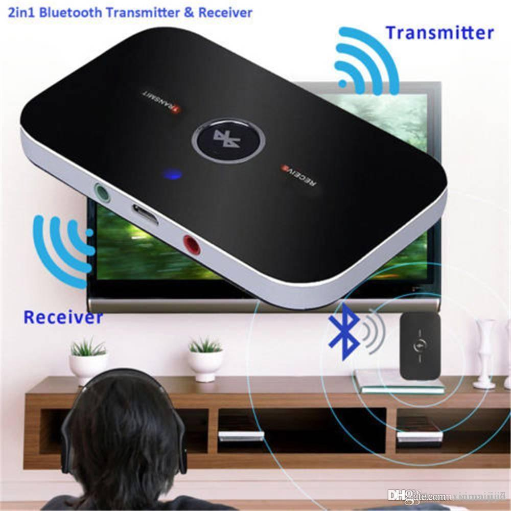 2 in 1 Bluetooth Transmitter Receiver Wireless Receiver Portable Audio  Player Aux 3 5mm Home Stereo TV Audio Adapter