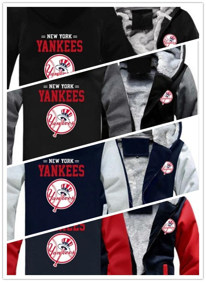 2019 Winter Hoody New York Yankee Fussball Manner Frauen Warme Hoodies Herbst Kleidung Sweatshirts Reissverschluss Jacke Fleece Hoodie Streetwear