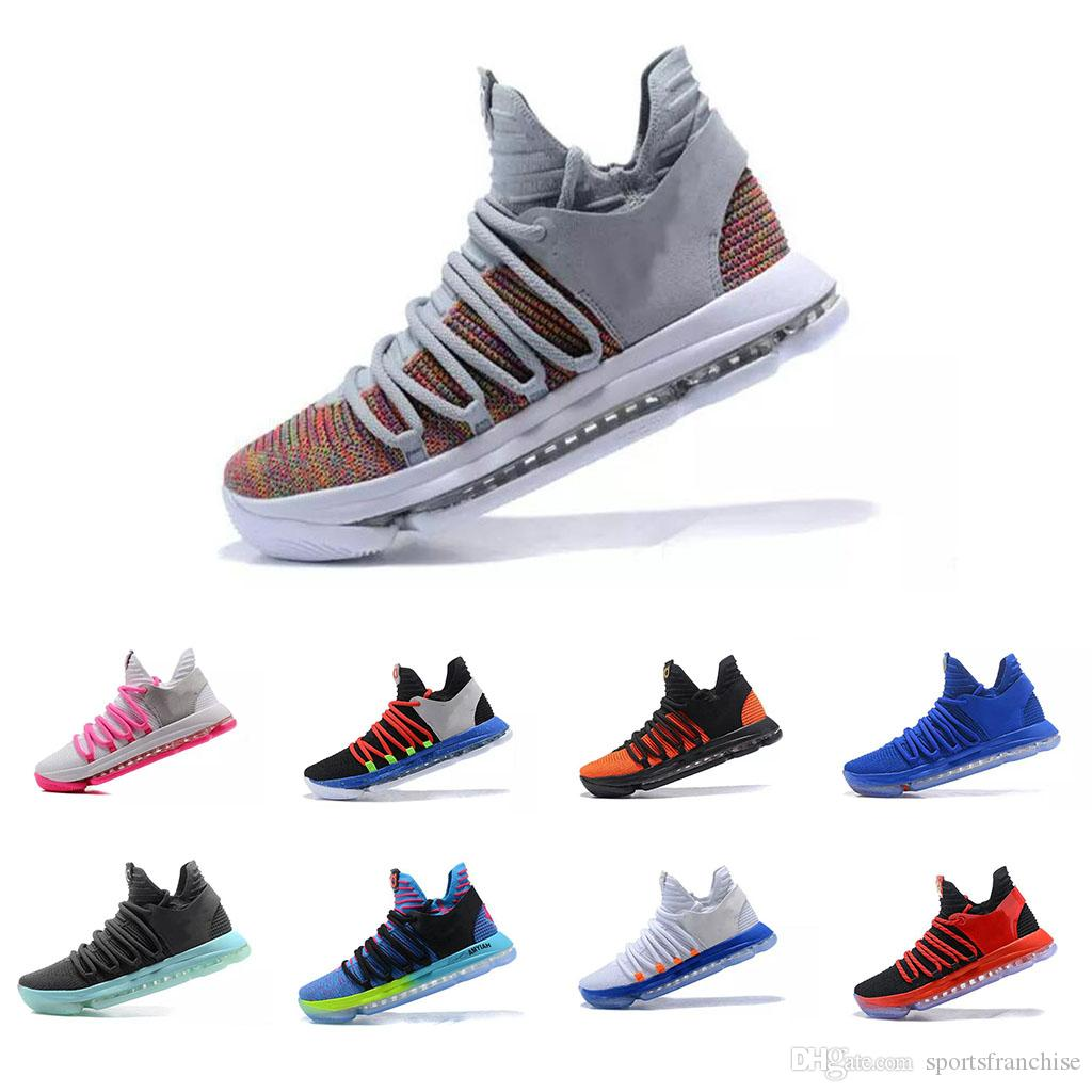 25e37665ba8e 2019 New Zoom KD 10 Anniversary University Red Still Kd Igloo BETRUE Oreo  Men Basketball Shoes USA Kevin Durant Elite KD10 Sport Sneakers US7 11 From  ...