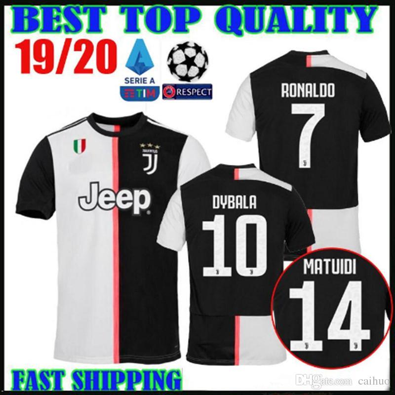 6e068fcfb 2019 New Patch Thailand 19 20 RONALDO Juventus Soccer Jerseys DYBALA 2019  2020 Champions League Home MANDZUKIC Bonucci MATUIDI Football Shirts From  Caihuo