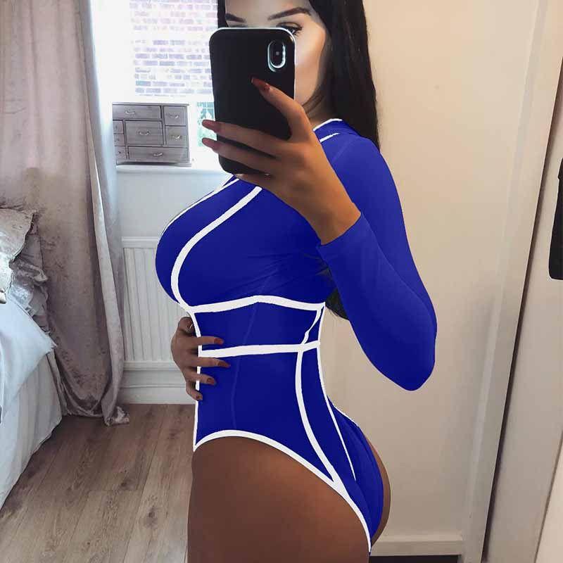 53b819b8ef Women Sexy Short Rompers Novelty Bodysuits Stripes Patchwork Deep V ...