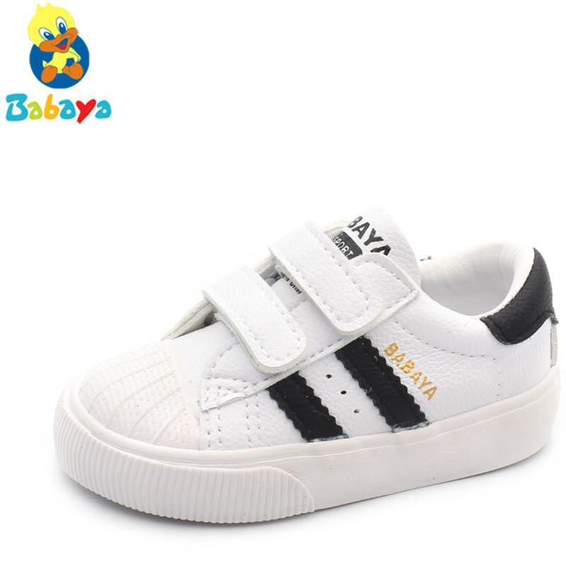 molto carino 83b16 cfc33 Bambini Scarpe piccole bianche Scarpe da bambino Scarpe sportive da 1 a 3  Scarpe Studio da ragazza Walking Scarpe da ginnastica casual
