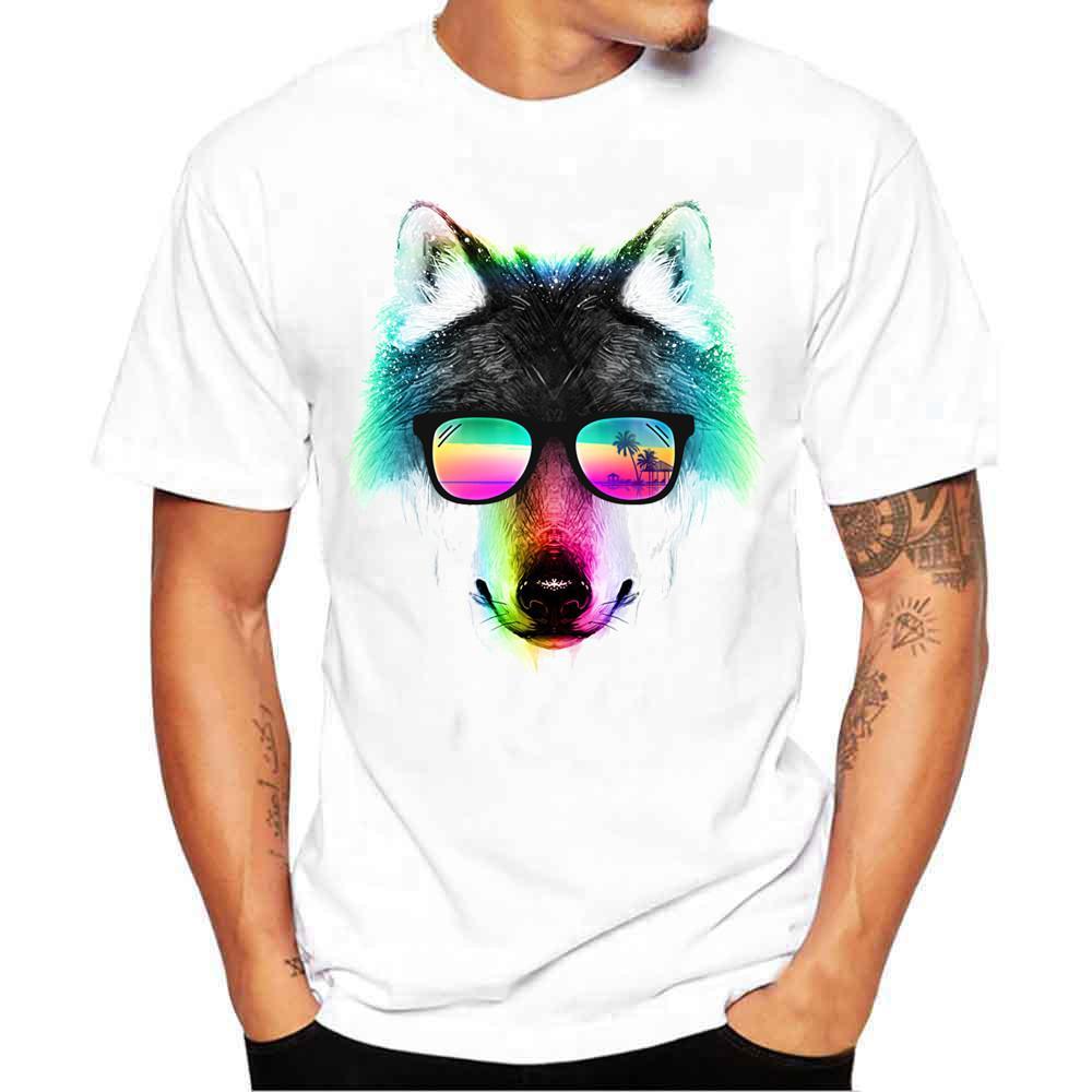 f45dae75bcf Acheter Été 2019 T Shirt Hommes Imprimé Animal Motif Multiple Drôle T Shirts  À Manches Courtes O Cou Streetwear Hommes Chemise Tee Homme De  37.17 Du ...