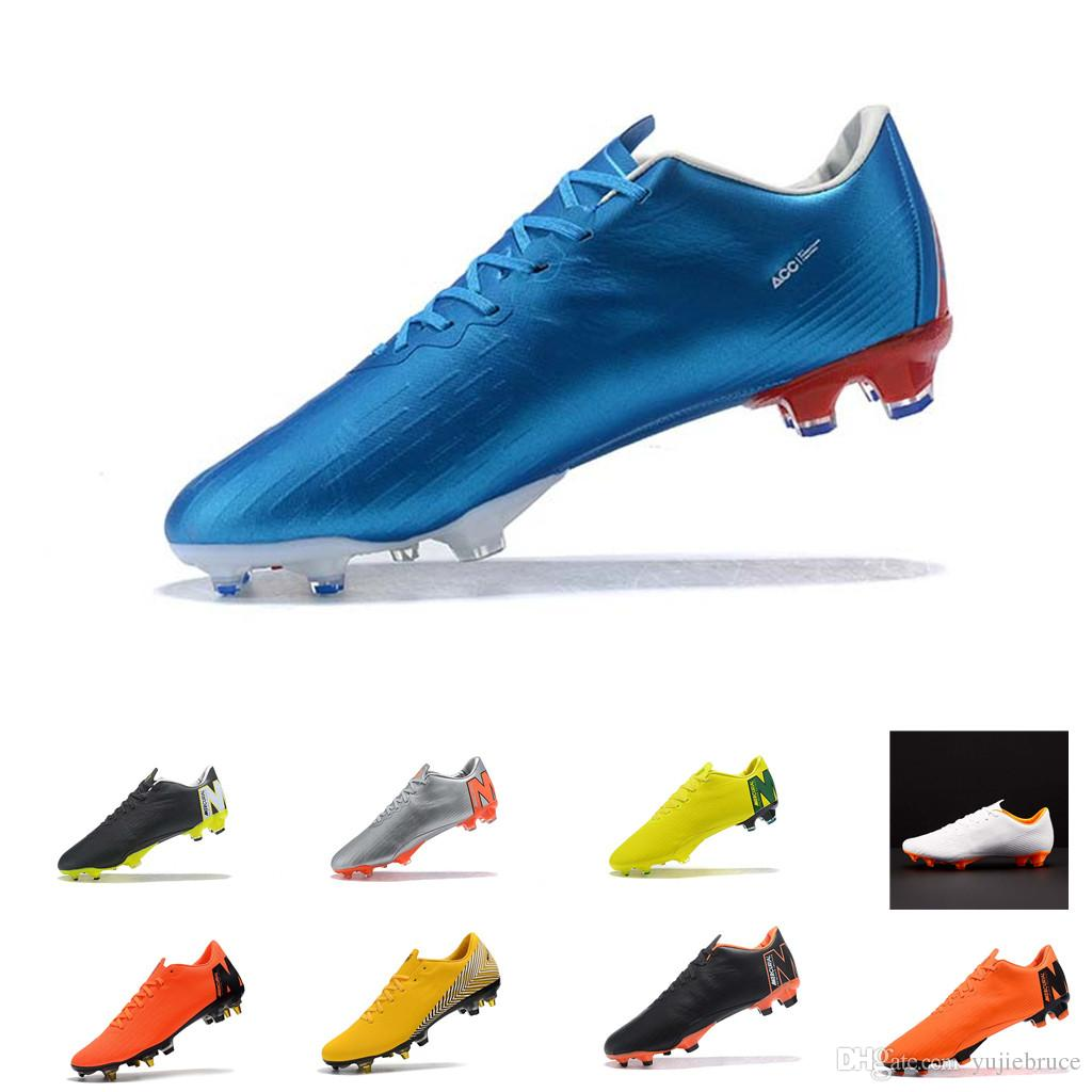 7610c7e44 2018 World Cup Mens Low Ankle Soccer Cleats Mercurial XII PRO FG SG ...