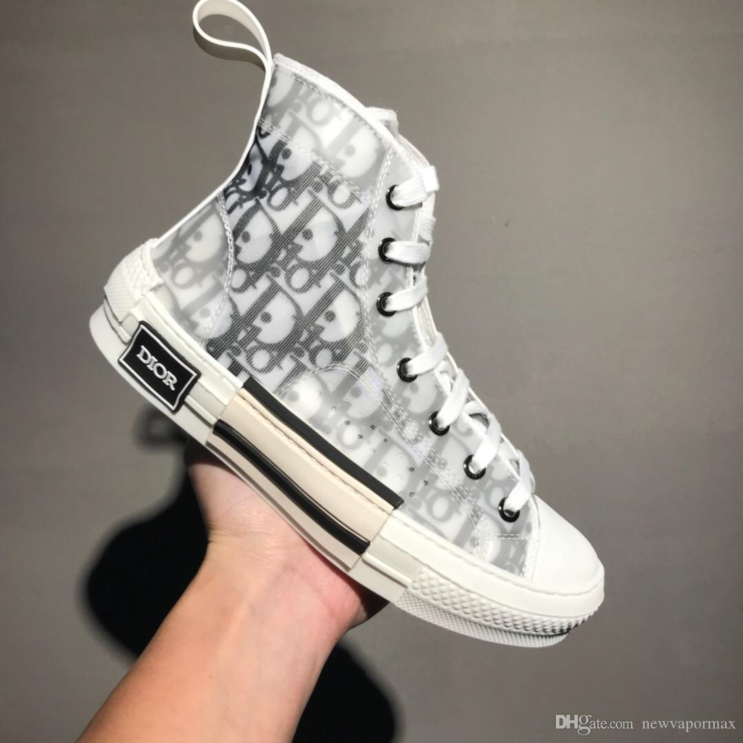 c095ee81b1 2019 Newest Luxury Mens Designer Shoes OBLIQUE Homme X Kaws By Kim ...