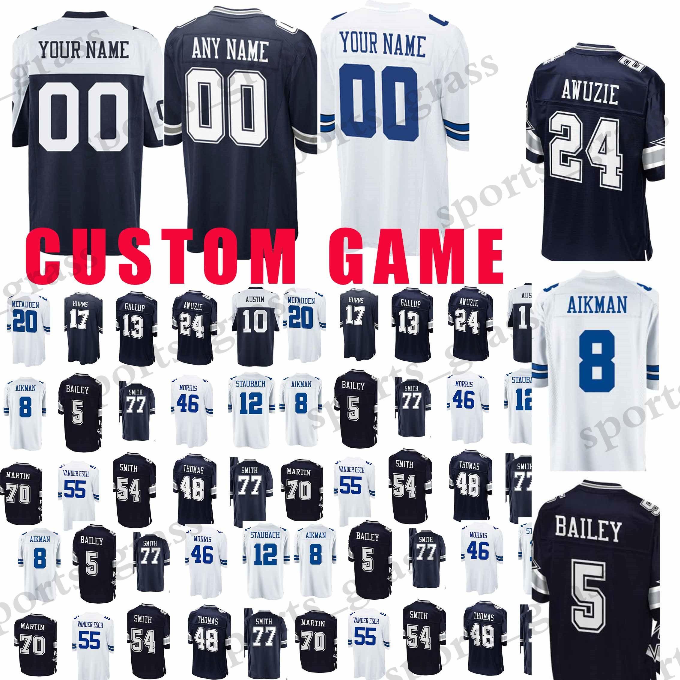 the latest c6f6f 140b4 custom Game Dallas Cowboys Jerseys 19 Brice Butler 90 DeMarcus Lawrence 5  Dan Bailey 20 McFadden 48 Johnston 54 Smith Jersey