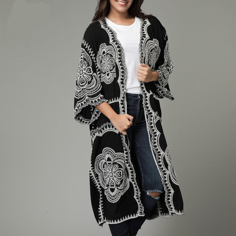 bc03dd25e331f 2018 New High Quality Long Cardigan Women Trench Coat Chinese Style ...