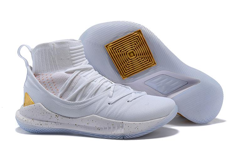 d1310eaf5c59 2019 NEW Currys 5 High Basketball Shoes 5s GOLD PACK Men Sneakers Pi ...