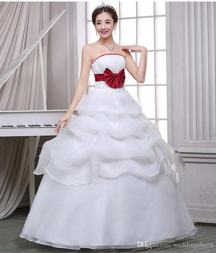 2017 Sweet Princess Straps Wedding Dress Tube Top Plus: New Tube Top Slim Wedding Dress Elegant Sweet Princess