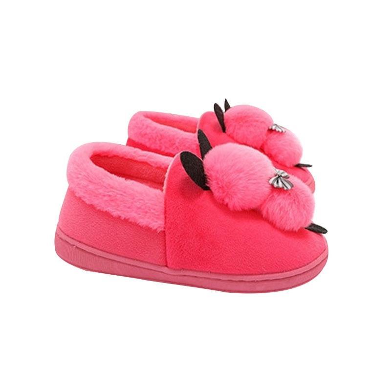 save off 5c6bc 6d97c Hot Soft Frauen Hausschuhe Frauen Winter Warme Hausschuhe Damen Kinder  Hause Boden Nette rutschfeste Schuhe