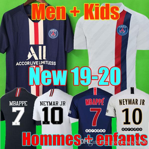 53540ff1239 Großhandel AIR JORDAN PSG 18 19 20 Soccer Jersey Fußball Trikots 2019 2020 Paris  Saint Germain Trikot NEYMAR JR MBAPPE Trikot Survêtement Fußball Kit ...