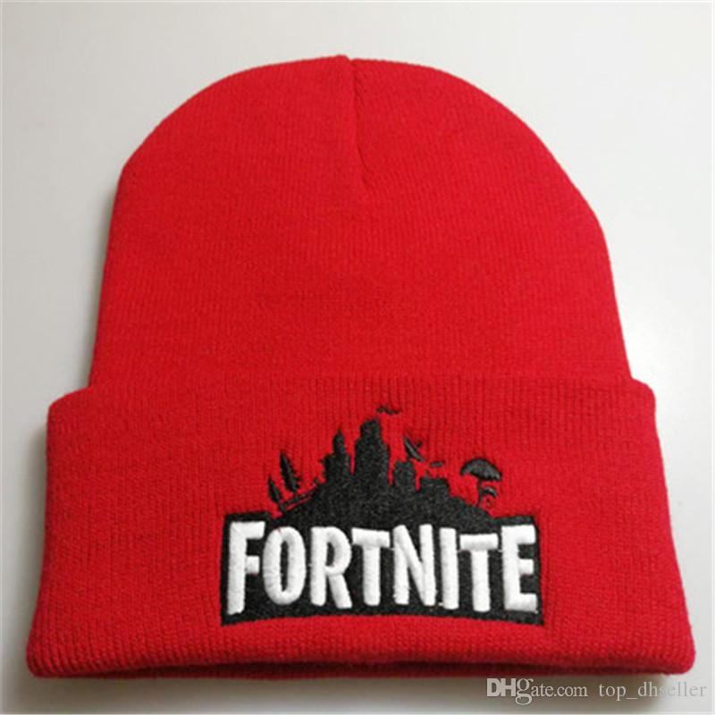 Fortnite Battle Knitted Hat Hip Hop Embroidery Knitted Costume Cap Winter  Soft Warm Girls Boys Skuilles Beanies MARK013 Hats And Caps Beany From ... 8920c374733c