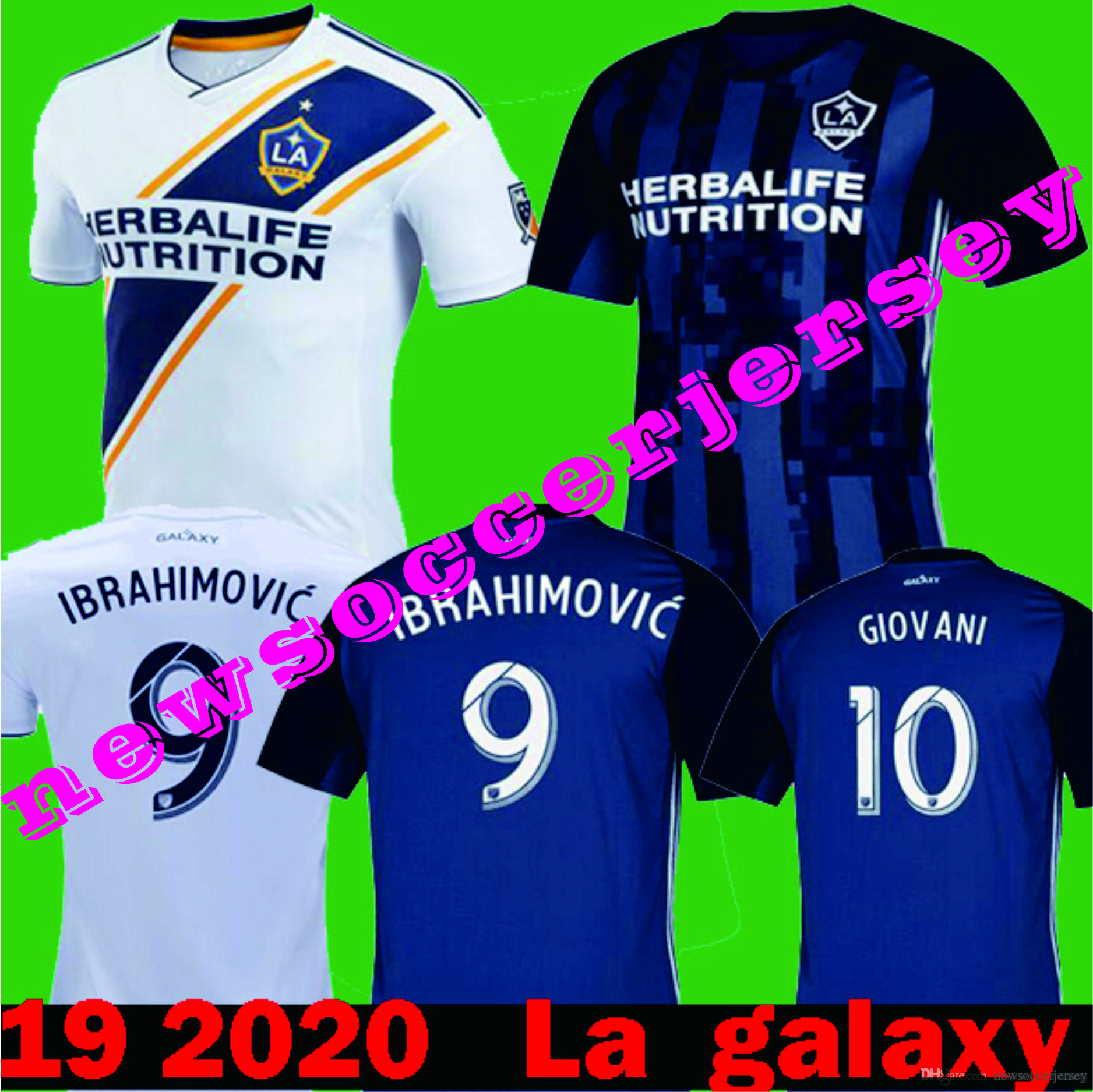 new style 25362 f34ec New 2019 2020 La Galaxy Zlatan IBRAHIMOVIC GIOVANI Home White Soccer  Jerseys 18 19 LA galaxy Away Blue KAMARA J.DOS SANTOS La Galaxy Shirt