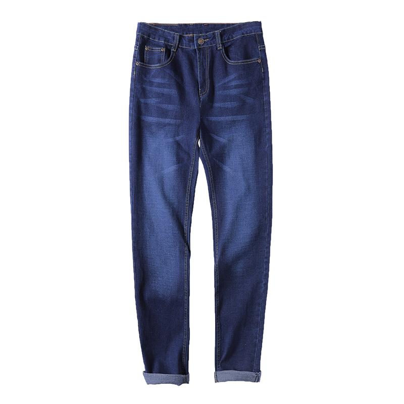 New Arrivals Simple Jeans Men Men's Cotton-blend Slight Stretch Whiskers Wash Effect Slim Fit Jeans