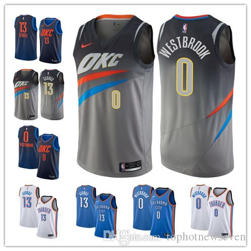 new product 40c52 86587 Russell Westbrook Paul George Thunder Swingman Custom basketball Jersey  Turquoise Edition