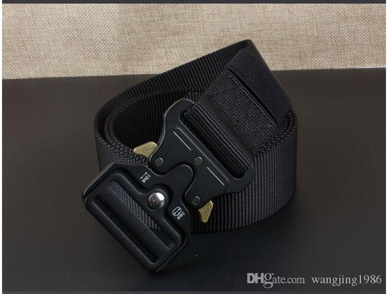 The New ENNIU 4.3CM Quick Release Buckle Belt Quick Dry Outdoor Safety Belt Training Pure Nylon Duty Tactical Belt
