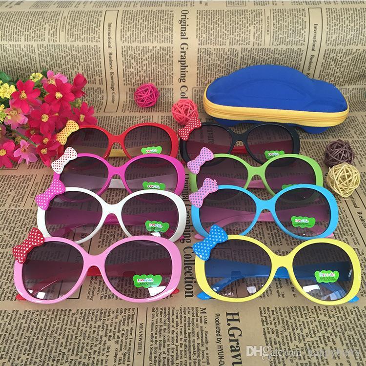 8b51b43a315 2019 Fashion Novelty Kids Sunglasses Shade Girls Glasses Baby Bow Eyewear  Kids Cute Bow Children Glasses Girls Boys Accessories From Happybarry