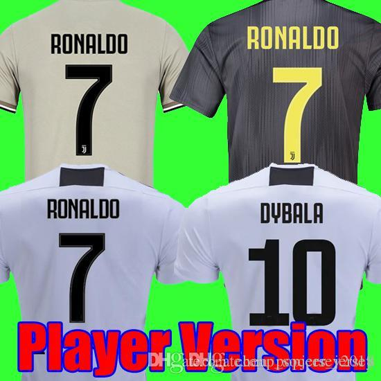 low priced 32aa4 b9ece Player version 18 19 RONALDO DYBALA Juventus soccer jersey 2018 2019  champion league football shirt MANDZUKIC juventus Camiseta maillot