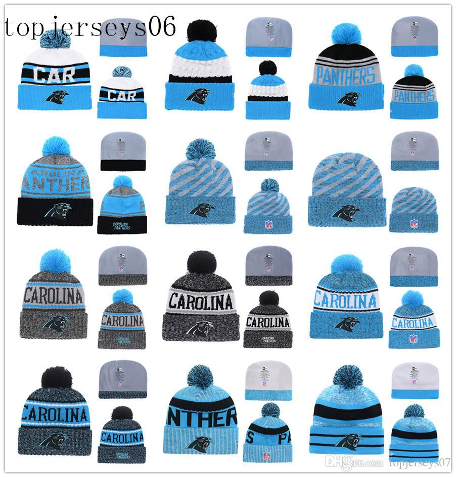 2019 New Carolina American Football Cap Panthers Era 2018 Sideline Cold  Weather Official Sport Knit Hat Blue From Topjerseys08 4985efb2557