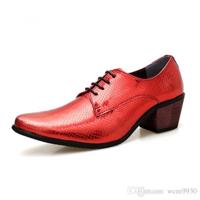 Heels Up Oxford Lace High Höhe Kleid Increse Hochzeit Schuhe Business Marke Party Mode Männer Spitz qzpSGMUV