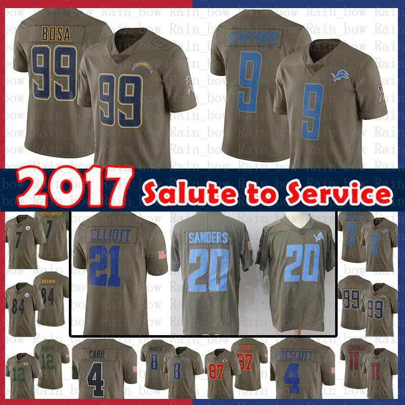 best service 1c6e0 68c39 $14.99 Los Angeles Chargers Jersey 99 Joey Bosa 2017 Salute to Service  Detroit Lions 9 Matthew Stafford 20 Barry Sanders 21 Elliott Cowboys