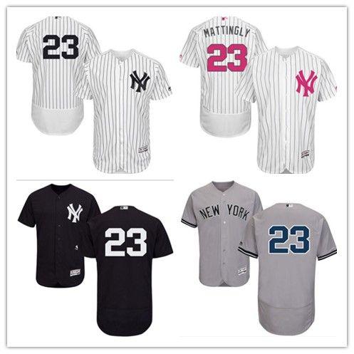 uk availability bcbf8 a3254 can custom 2019 New York Yankee Jerseys #23 Don Mattingly Jerseys  men#WOMEN#YOUTH#Men s Baseball Jersey Majestic sport wear free ship