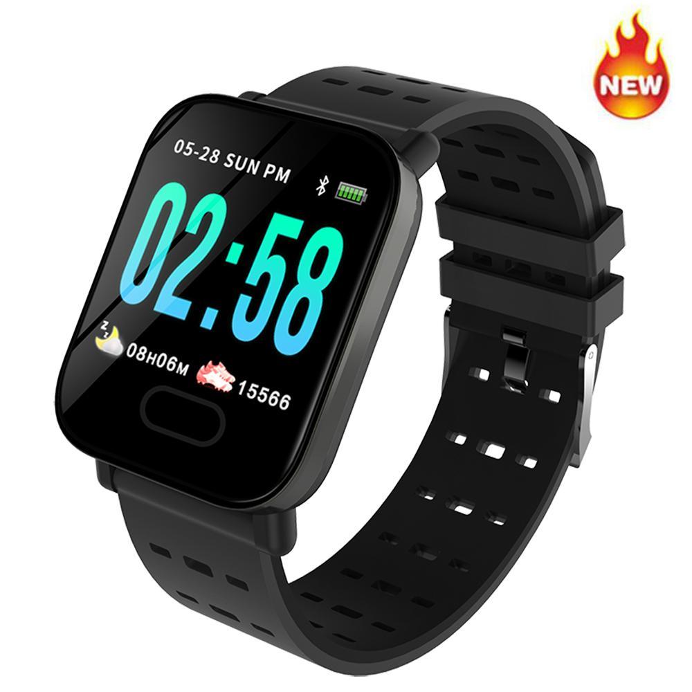 5b4f4485b5cd Relojes Mujer Baratos A6 Smart Watch Monitor De Ritmo Cardíaco Sport  Fitness Tracker Presión Arterial Recordatorio De Llamada Reloj Para Adultos  Para IOS ...