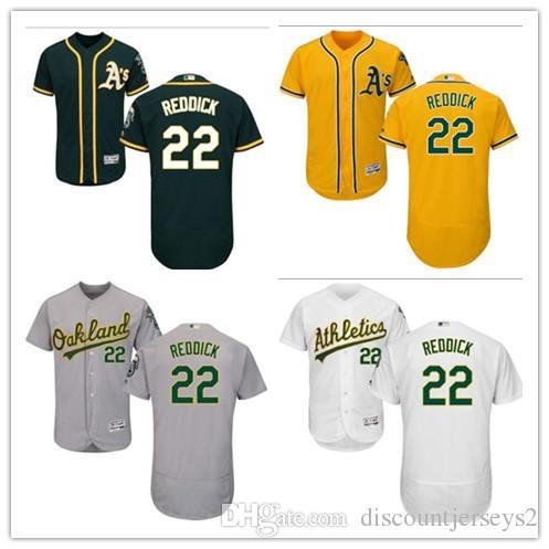pretty nice 7fa0e 3a029 2019 can Athletics Jerseys #22 Josh Reddick Jerseys men#WOMEN#YOUTH#Men s  Baseball Jersey Majestic Stitched Professional sportswear