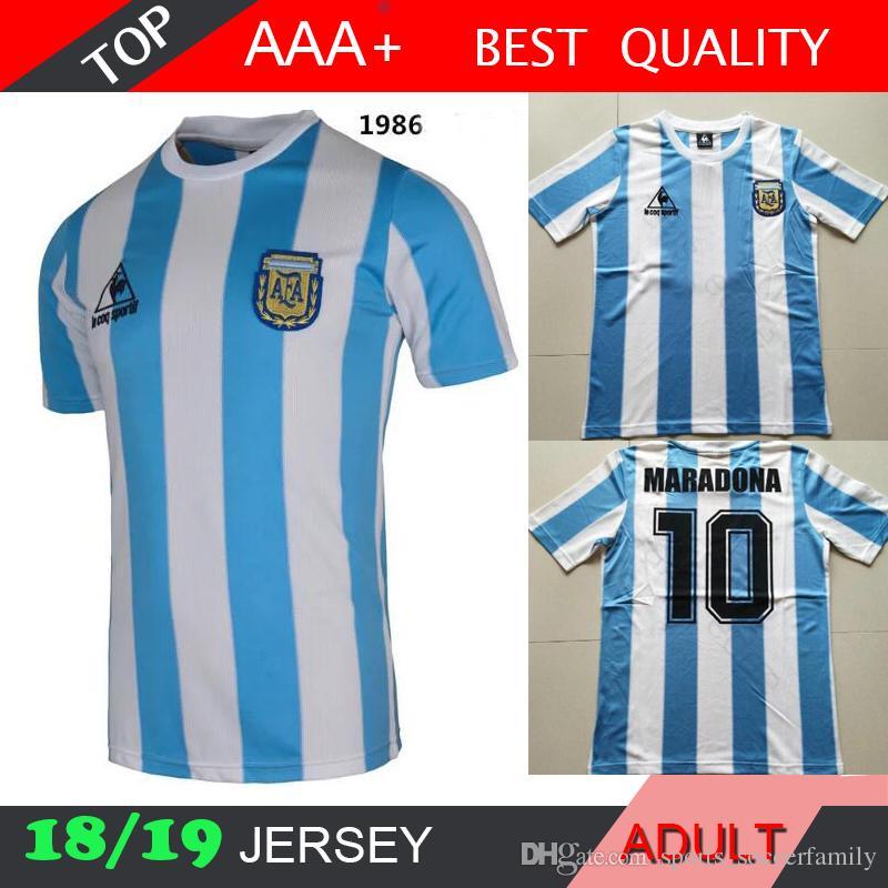 8e274d701 2019 1986 World Cup Classic Vintage Argentina Soccer Jersey 10 MARADONA  CANIGGIA BATISTA DIEGO Custom Home Camisa De Futebol Football Shirt From ...
