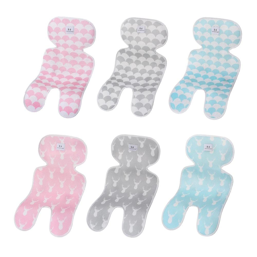 Summer Baby Stroller Accessories Breathable Cool mattress in a stroller Pad Baby Seat Pram Car Cushion-30