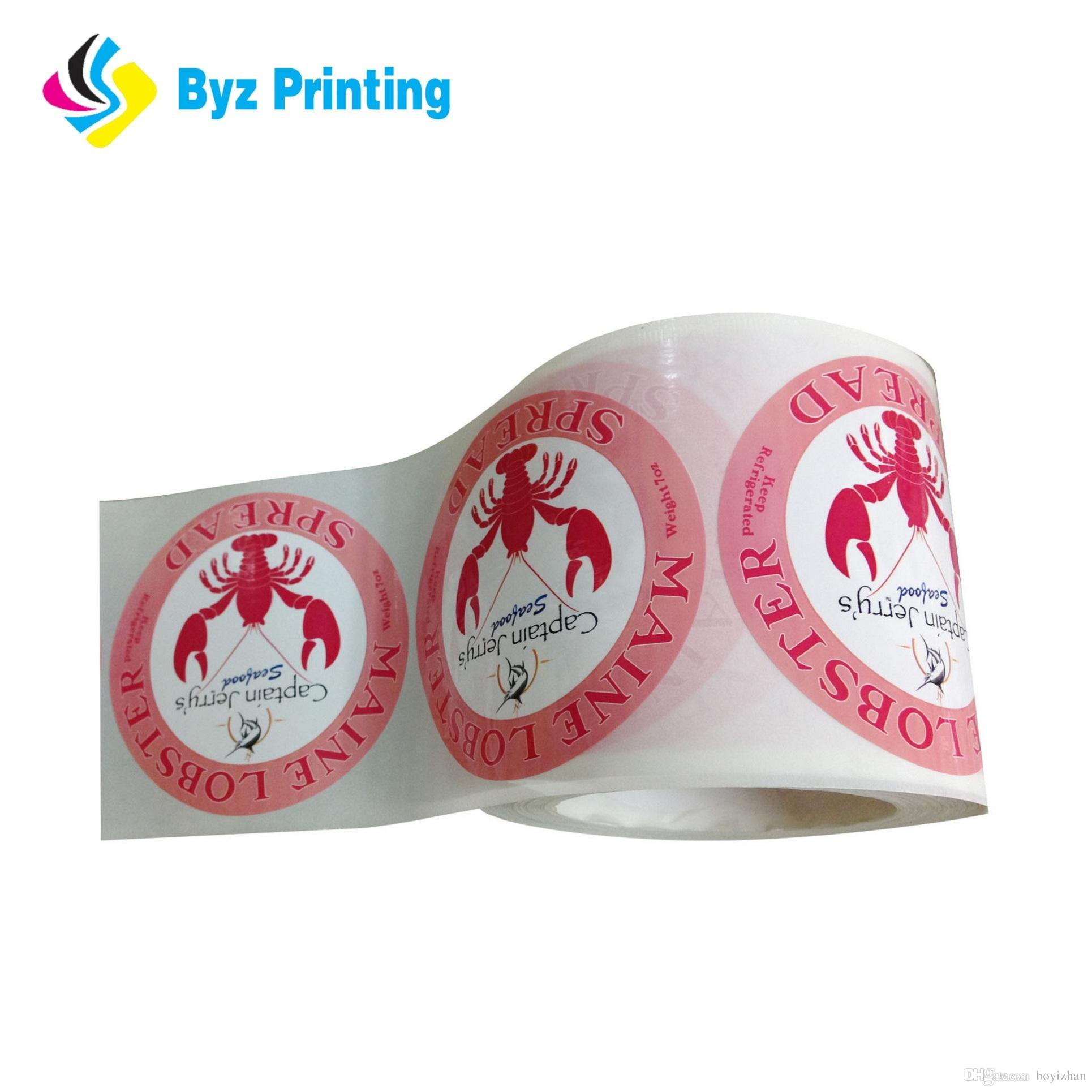 Top selling custom self adhesive sticker printing high quality full color waterproof roll vinyl stickers