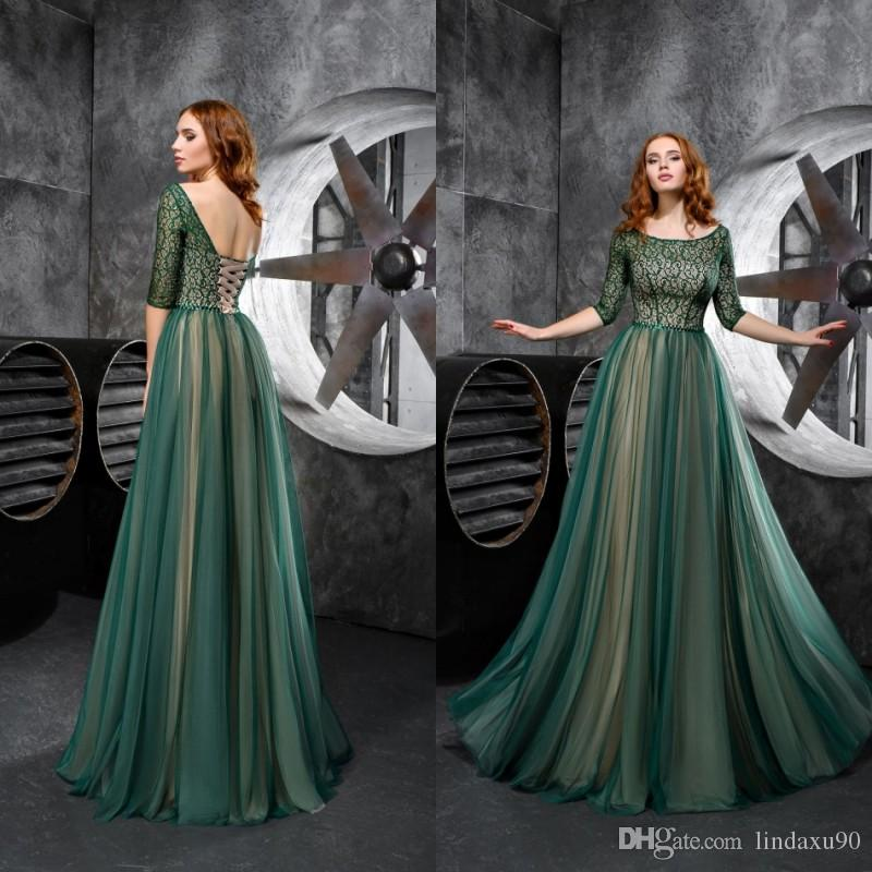 Cheap Hunter Green 2019 Mother Of The Bride Dresses A Line Lace