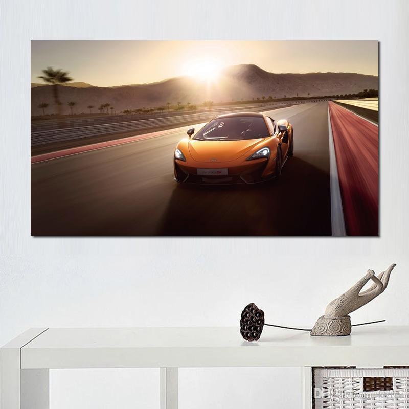 Макларен Макларен автомобильное движение Плакат Печать настенных картин для прихожей декора