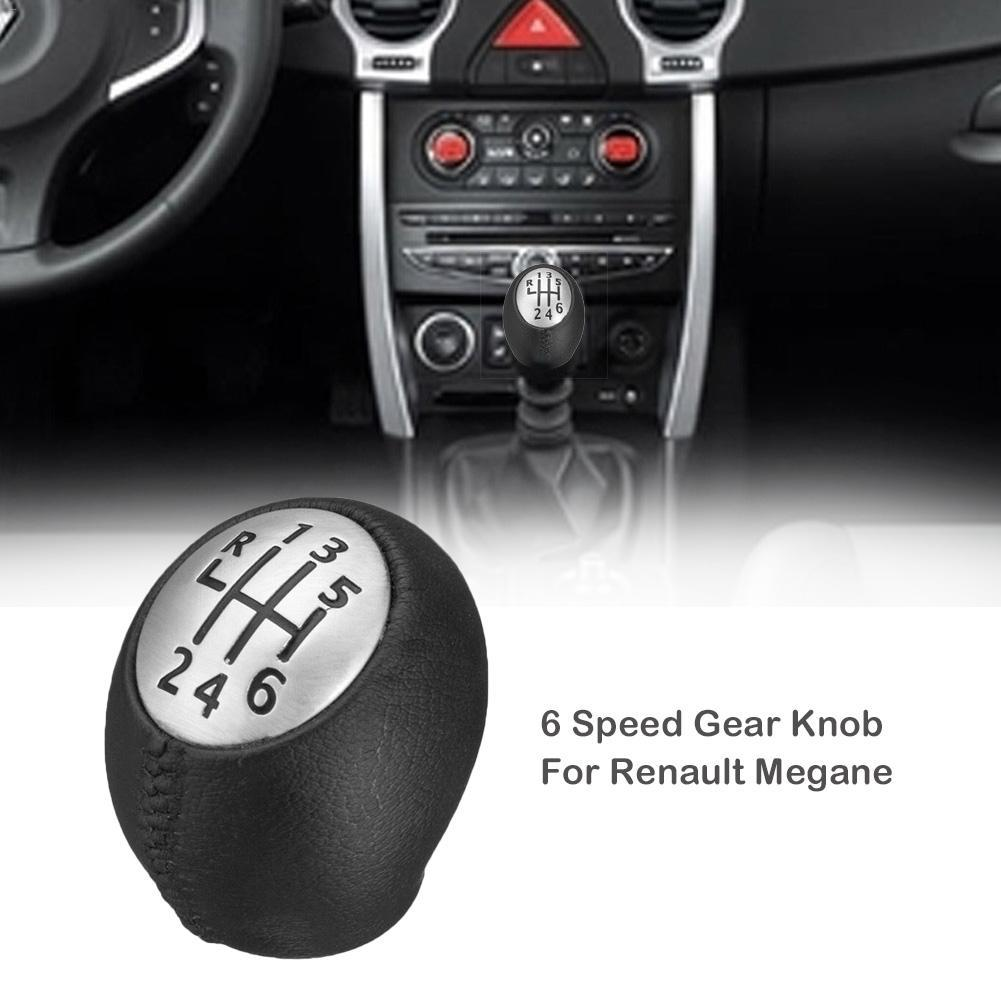 6 Speed ​​Gear Ручки для Megane Clio Laguna Vauxhall моды Кожа PU автомобили 6 Speed ​​Gear Knob Drop Shipping