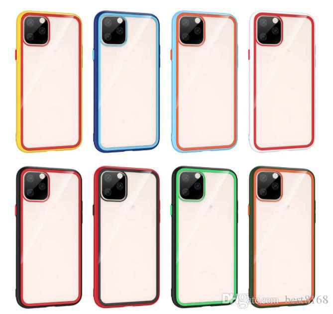 Hybrid Case For Iphone 11 Pro XR XS MAX X 10 8 7 6 Soft TPU+Clear Explosion-proof Glass Clear Rainbow Dual Bicolor Colorful Luxury Gel Cover