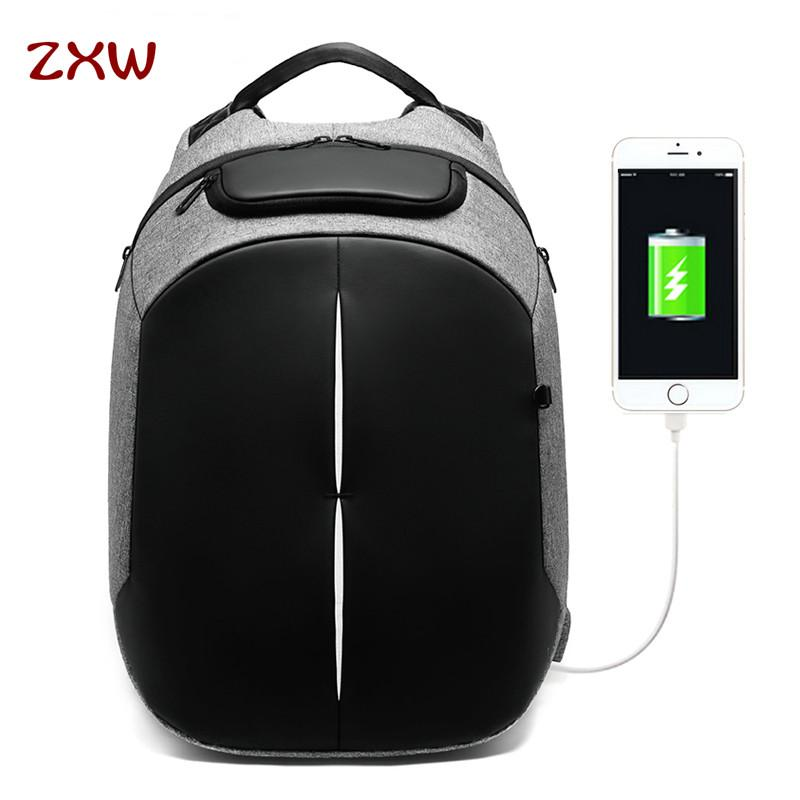 3ebb8415d13 ZXW 2019 Moda Masculina Mochila de Viagem Multifuncional Grande Capacidade  Sacos de Carregamento USB 15.6 polegada Mochilas Laptop Repelente De Água