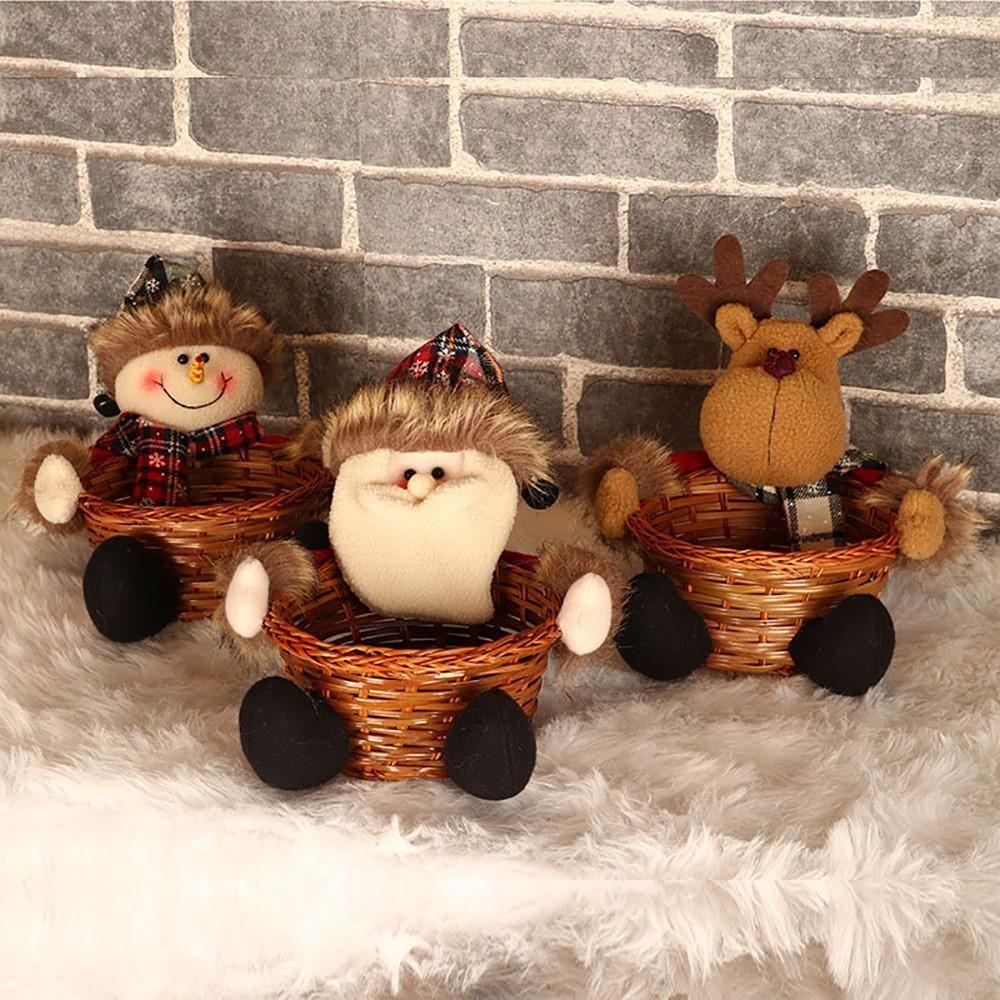 online buy wholesale large decorative baskets from china.htm christmas candy storage basket decoration santa claus storage  christmas candy storage basket