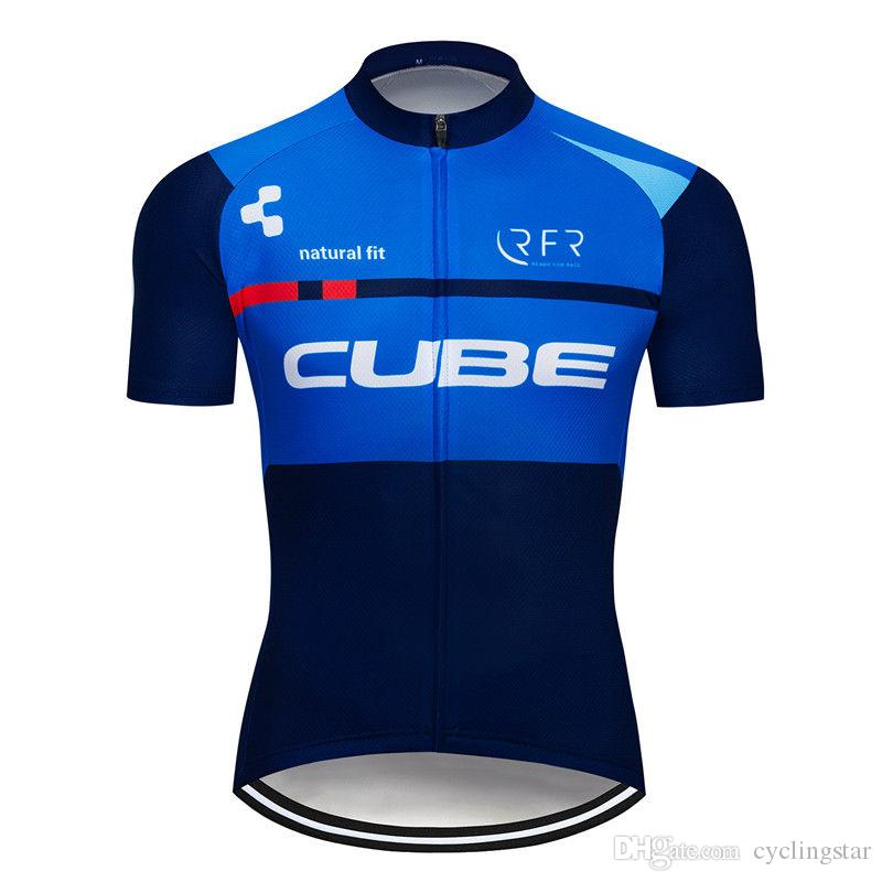Men CUBE Team cycling Jersey Bike Short sleeve Shirt summer Sale Bicycle Tops Quick dry racing clothing sports uniform ropa ciclismo Y052201