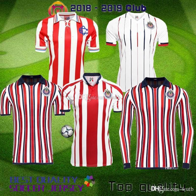 2019 New 2018 2019 MEXICO Club Classic Chivas De Guadalajara Home Away  Soccer Jersey 18 19 A.PULIDO Camiseta De Futbol Jerseys Football Shirts  From Wutb a1e61a8c1
