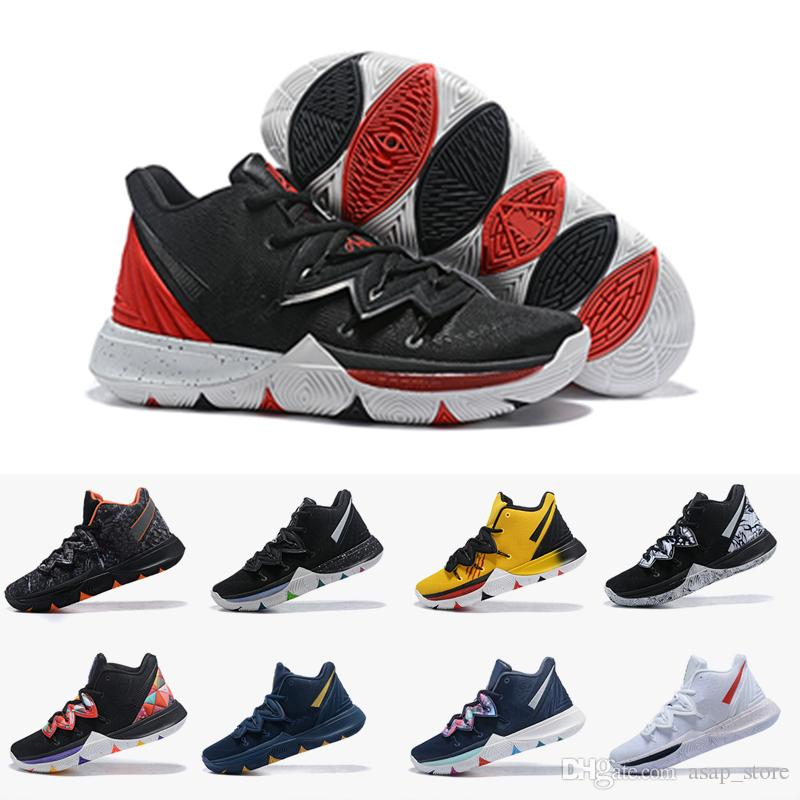 2aaf25f61adb 2019 Kyrie 5 Black Magic Sky Star Mens Basketball Shoes Chaussures 5s Men  Rainbow Black White Trainers Sports Sneakers Size US 7 12 Shoes For Men  Athletic ...