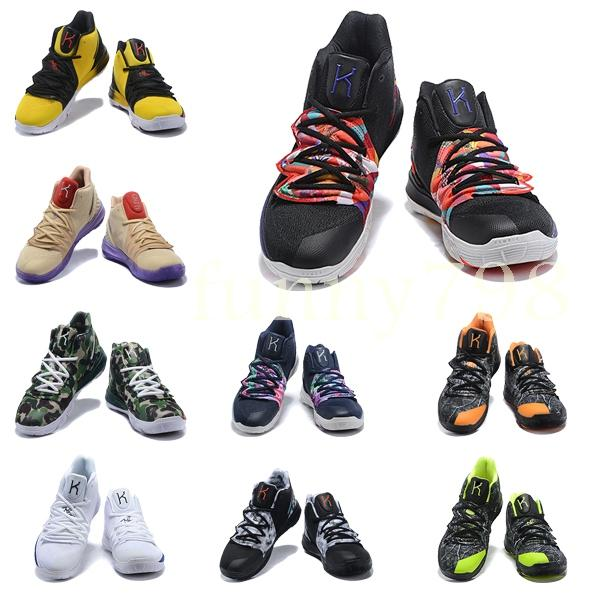 e078f12c8cf3 2019 Best Quality Designer Fashion Shoes Kyrie 5 Irving Neon Blends  Chaussures Men 5s Wolf Grey Team Red Sports Basketball Shoes Loafers For  Men Mens ...