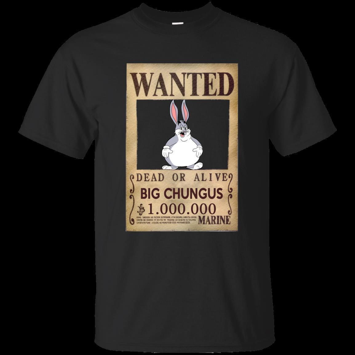 Black T Shirt Big Chungus Meme For Men Women Youth Size S 5xl Men