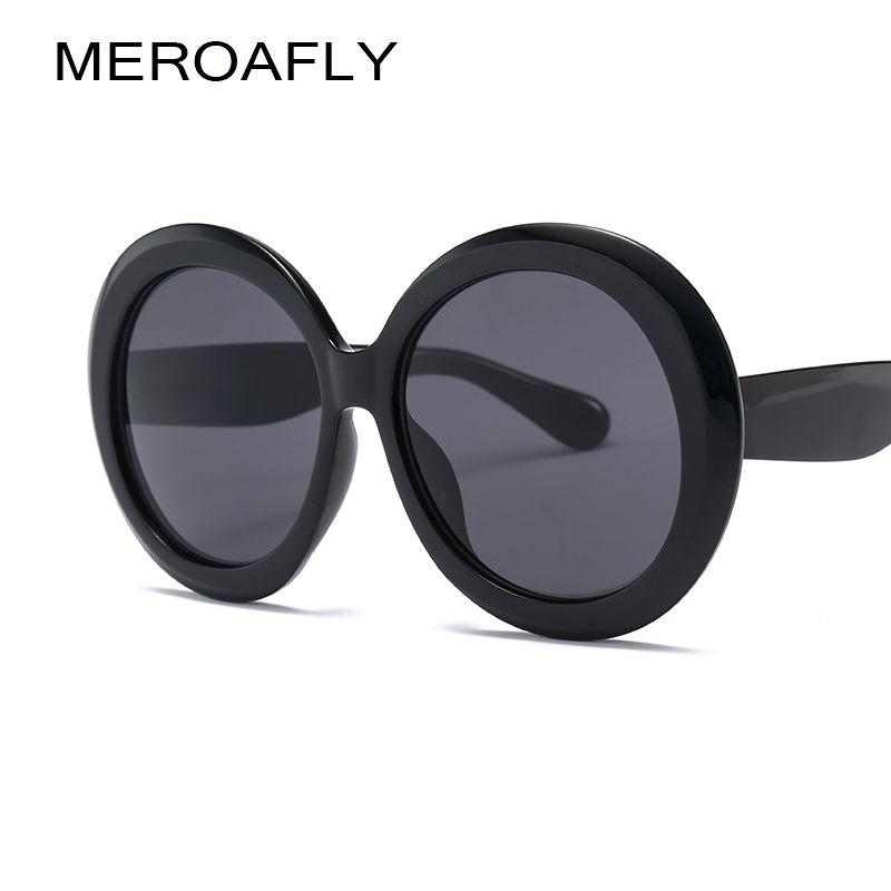 796d72e006 MEROAFLY Fashion Oversized Sunglasses Women Round Shape 2019 Circle Green  Sun Glasses For Women Large UV400 Black Eyewear Mens Sunglasses Police  Sunglasses ...