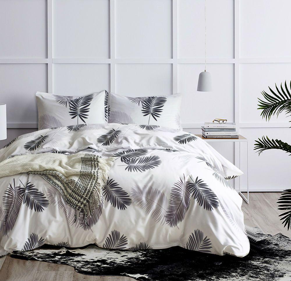 Großhandel Schwarz Weiß Bettdecke Set 23 Stücke Grünes Gold Palm