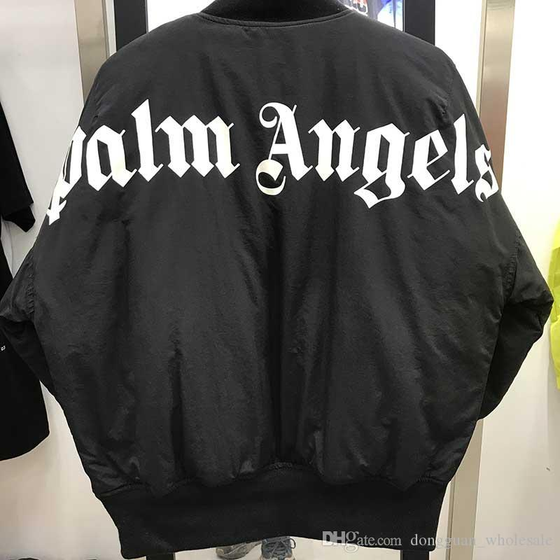 19FW Palm Angels Jacket Women Men 1P:1 Palm Angels MA-1 Bomber Coat Flight Air Force Pilot Palm Angels Jackets