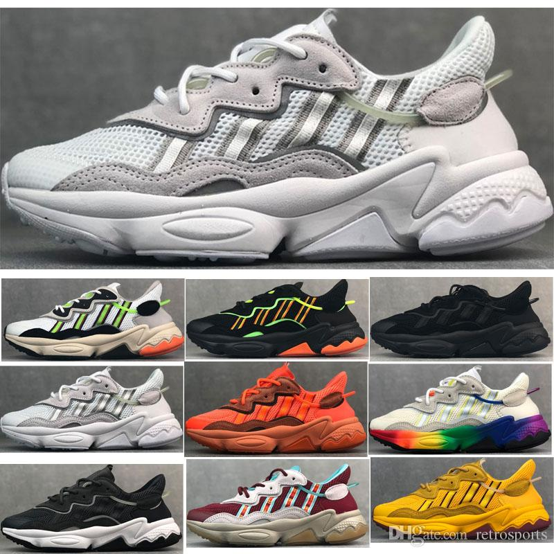 19 Cushion Ozweego PRENE Style Running Shoes Men Women Sports Buffer Sneakers hot sale size 36-45